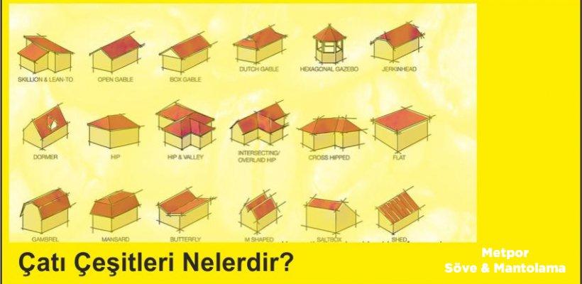 Çatı Çeşitleri Nelerdir?